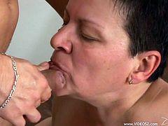 A big, beautiful woman with massive tits and a shaved pussy enjoys a hardcore, missionary style fuck. Hear her scream with pleasure now!