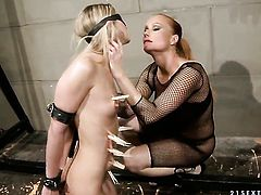 Blonde with big tits and Katy Parker part their legs legs wide for each other and have lesbian fun