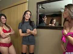 Gorgeous brunette Capri loves when her girlfriends examine each others pussies. You are welcome here to enjoy watching top rated lesbian sex video from Brazzers archive.