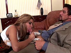 Captivating milf Isis Taylor wearing panties is having fun with Tommy Gunn indoors. Isis pleases Tommy with a blowjob and lets him fuck her snatch in the missionary, cowgirl and other positions.