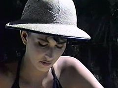 Dark haired torrid sweetie in hat posed with her legs spread apart and let her dude enjoy her throbbing kitty fully. Hot cunnilingus and passionate mish pose sex was the main invasion at that moment. Watch that hot fuck in The Classic Porn sex clip!