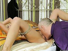 Blonde Chary Kiss does it with a guy she wants to fuck