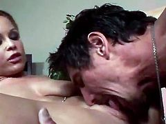 Stunning Jessica takes off her clothes and gets her delicious pussy licked by Tommy Gunn right in an office. Then Jess gets her ass and a pussy fucked in close up scenes.