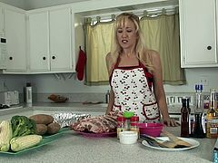 Alana Evans in the kitchen