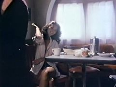That thirsting stud managed to seduce light haired whorish wench. It seems he didn't have sex for quite long time...Look at that hungry freak in The Classic Porn sex video!