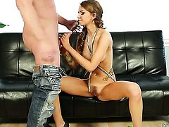 Pressley Carter loses control after Eric Masterson sticks his love stick in her mouth