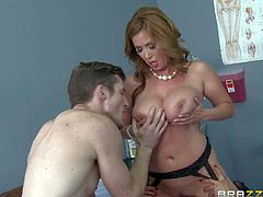 Kianna Dior and Eva Notty are amazingly hot big breasted milfs that struggle for Brick Dangers fat hard dick at the hospital. Asian woman and another milf show off their nice butts and big tits while getting banged.