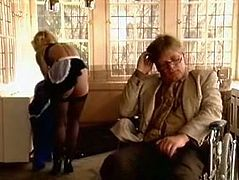 That shameless stud faked to be an incapacitated person. When seductive streetwalker in sex suit cam to please him he was pretty health dude. He gave her hard doggy and reverse cowgirl styles fuck. Look at that steamy fuck in The Classic Porn sex video!