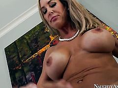 Brandi Love with round ass and bald twat loves to fuck and cant say No to horny dude Tyler Nixon