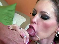 Witness this video where a brunette MILF, with giant fake love pillows wearing a bikini, gets badly screwed by a tattooed guy and moans loudly.