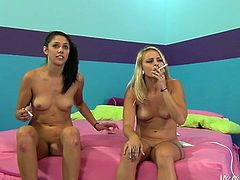 Horny lesbians Cameron Canada and Tristan Berrimore are ready for some fun