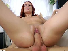 Impressive PAWG Eva Berger gets her both holes stuffed by pecker