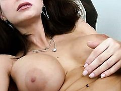 Sex crazed sex kitten Emily Addison has some time to play with her snatch