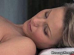 Awesome babe is massaged by big white part1