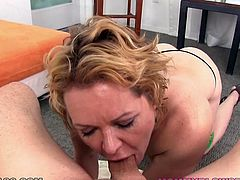 Short and light haired old filth is an experienced cock sucker. Her dirty mouth adores sugary peckers. Enjoy this insatiable whore in My XXX Pass porn video!