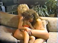 Light and curly haired hotties with big tits kneeled down to please that feverish man with solid BJ. Have a look at that hot FFM fuck in The Classic Porn sex video!