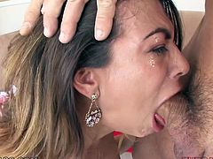 Big breasted filthy harlot enjoys nice fuck with her guy. Today he tried some extreme fuck pose. It was flying 69 but the unusual one. That deep throat turned out to be the hardest for her mouth. Look at this jaw dropping fuck in My XXX Pass sex clip!