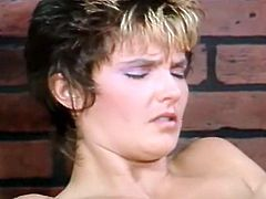 Short and dark haired MILF rests on sofa with her legs spread part and takes pleasure getting her ugly saggy cunt eaten by that rapacious bitch. Have a look at that dirty lesbo fuck in The Classic Porn sex clip!