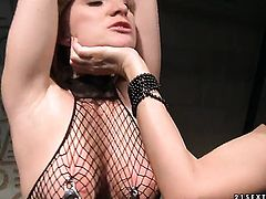 Blonde Steffie with giant boobs and Katy Parker are in the mood for lesbian sex