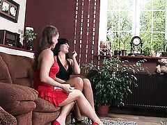 Shameless goddess Carmen Croft and Silvia Saint have a lot of fun in this girl-on-girl action