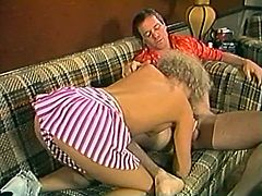 Light haired bodacious lassie with sexy shapes attacked hard bonker of that guy and sucked it completely.Watch that zealous bitch in The Classic Porn sex clip!