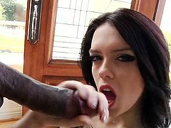 Voracious and hot brunette with awesome body gives a great blowjob to her dude. Have a look at this chick in My XXX Pass sex clip.
