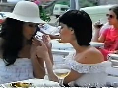 Those insatiable lesbo whores concealed that they were wanton lesbians. each time they looked for such desert place where they could eat sweet pussies with passion...Look at those dirty lesbians in The Classic Porn sex clip!