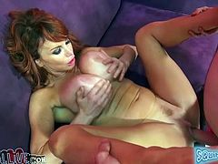 Long and sandy haired lusty whore with massive fake jugs got her dumpy twat banged rough from behind. A bit later she gave awesome boob fuck to that kinky guy. Watch this hot blooded bosomy chick in My XXX Pass sex clip!