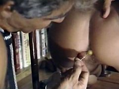 Incredibly hot stud fucked his busty fair haired librarian in mish pose