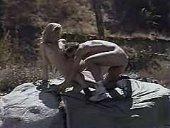 Brutal stud had hot weekends with booty light haired slut. He fucked her kitty from behind tough. Later she sucked his long sausage with pleasure. Have a look at that steamy outdoors sex in The Classic Porn sex clip!