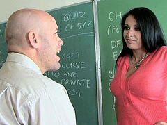 Charming college slut Bella Blaze makes her horny teacher an offer he can't refuse. She offers him the sex in exchange for excellent grades. She makes him lick her sweet cherry. Then she returns the favor and goes down on him.