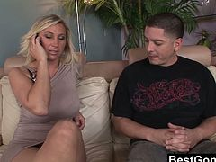 Devon Lee is a great wife. Unfortunately her husband is always working late and lately she is really lacking attention. Being horny as she was she decided to fuck her husbands' closest friend. Lucky dude.