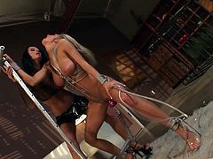 The amazing Sammie Rhodes and Alektra Blue practice some deepthroat and drill each other's hot little pussies with some big ass dildos.