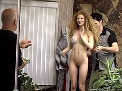 Slim blonde Annie Body is getting naughty with a guy indoors. She sucks the dude's wang devotedly, then lets him drill her pussy in the missionary position.