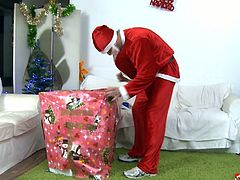 Donna Bell got visited by Santa Claus to check if she has been naughty through the year. Yes, she has been so he decided to punish her asshole with his meat!