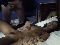Black haired seductive bitch in hat seduced her shy driver and forced him to stop the engine in order to ride his cock in cowgirl pose hard. Have a look at that hot chick in The Classic Porn sex clip!