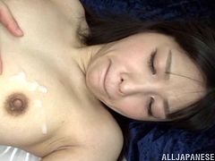 Lovely cowgirl stimulated as he fingers her wet hairy pussy before she gives a blowjob then they have hardcore sex doggy style.