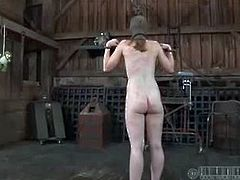 Model turned bdsm addict Maggie Mead are in for a treat of extreme bondage and torture especially on her pink pussy got all tied up and bondage with her snatch hanging on a hook
