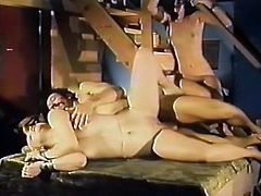 At first that light haired whorish gal posed on knees and blew that staff bonker greedily. A bit later she got rewarded by tough sideways pose fuck. Look at that zealous bitch in The Classic Porn sex video!