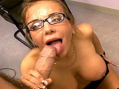 It's time for horny secretary,Nika Noir, to have her juicy twat demolished by her horny and greedy boss