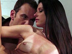 Insatiable brunette India Summer takes some hard cock from behind