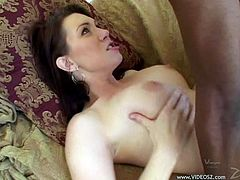 Anal sex with a black monster cock for the sexy Rayveness