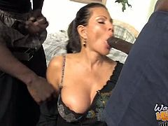 Teri Weigel interracial gangbang