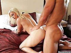 Johnny Castle cant wait any longer to stick his love stick in prettied up Tara Lynn Foxxs vagina
