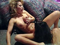 Make sure you have a look at this hot lesbian scene where these sexy babes please one another in a vintage video you don't want to miss.