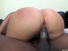 Kinky and attractive dark haired booty and sexy babe with nice boobs get her tight pussy fucked hard. Have a look at this chick in My XXX Pass sex clip.