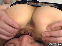 Cock riding naughty Asian bitch Mami Kato. Loves playing with hard cocks and she is getting two of the kind in this scene. She is devouring those big dongs
