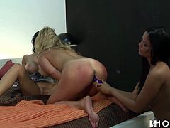 If you are into girls with big luscious tits then you need to see this amazing lesbian sex video. Jaw-dropping chicks are rimming each other's sweet pussies using their favorite sex toys.