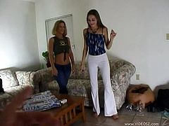 Sexy Amateur Lesbians Get A Bit Naughty On The Couch