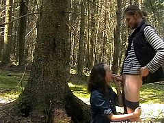 Have fun with this hardcore scene where this horny teen couple fuck the living hell out of one another outdoors.